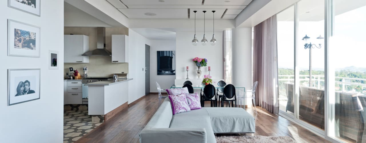 Salon moderne par HO arquitectura de interiores Moderne