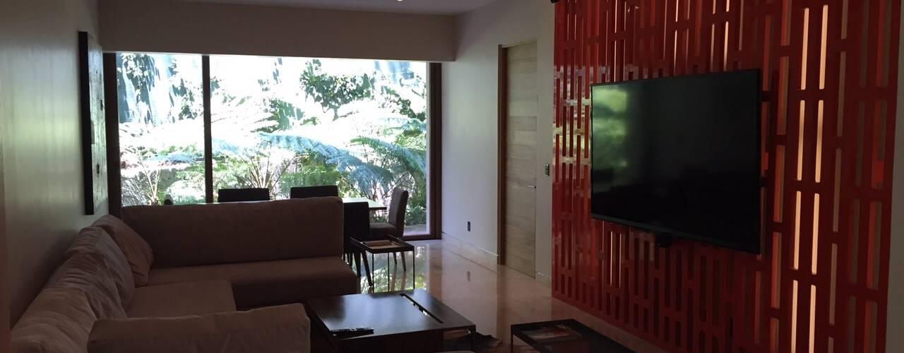 DISEÑO DE MOBILIARIO Y OTROS:  de estilo  por HO arquitectura de interiores