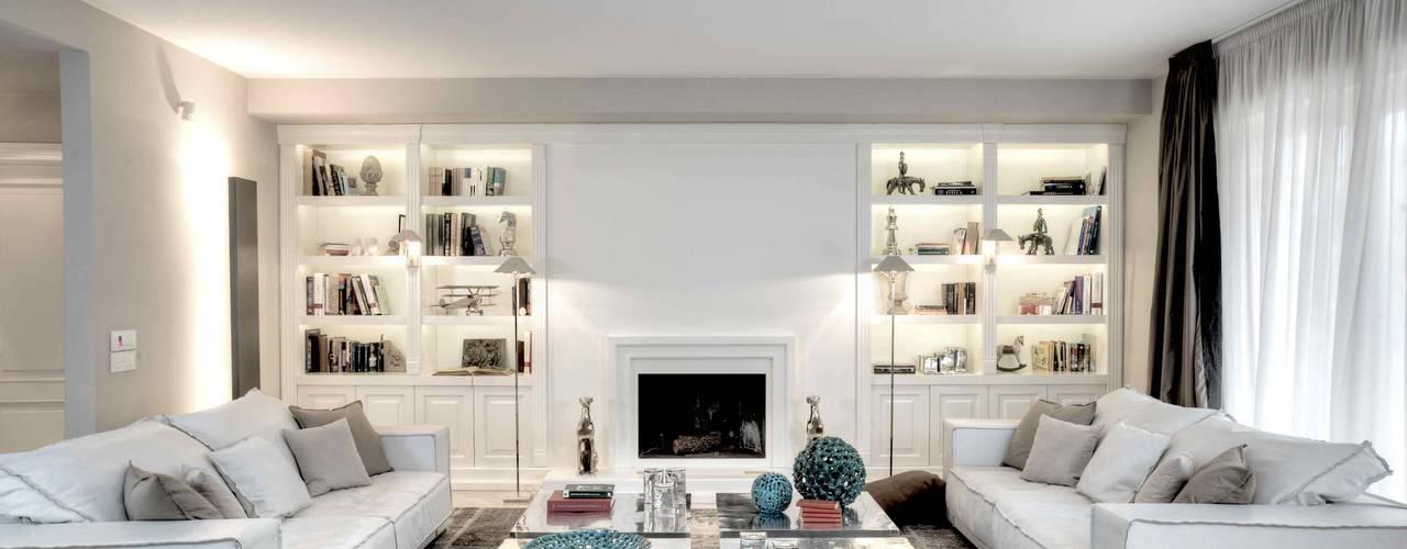 Boiserie in legno idee e ispirazioni per decorare la casa for Pareti sala in cartongesso