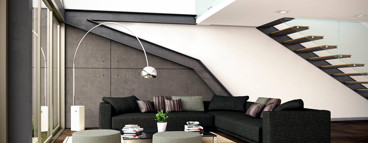 Ruang Keluarga Modern Oleh LA RORA Interiorismo & Arquitectura Modern