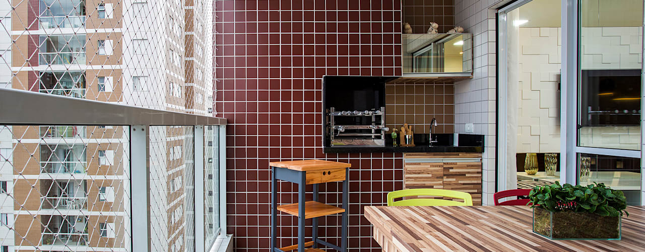 Terrazas de estilo  por Amanda Pinheiro Design de interiores