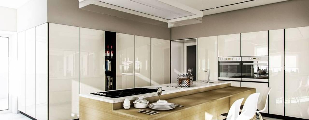 現代廚房設計點子、靈感&圖片 根據 Vilaça Interiores 現代風