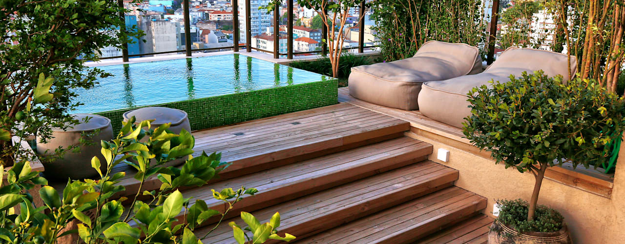 Balcon, Veranda & Terrasse modernes par Tellini Vontobel Arquitetura Moderne