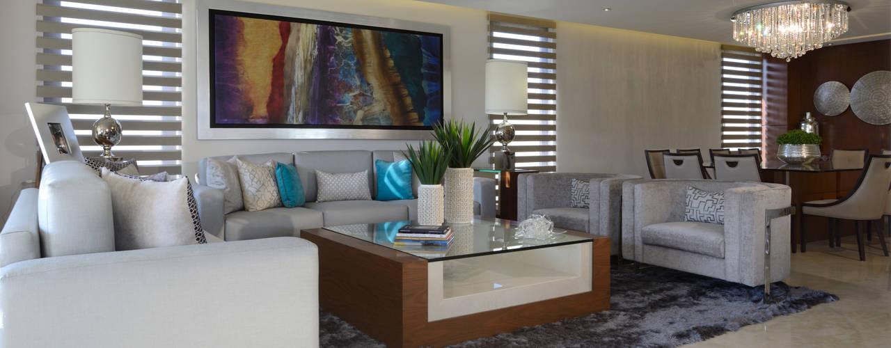 Salas de estar modernas por VICTORIA PLASENCIA INTERIORISMO