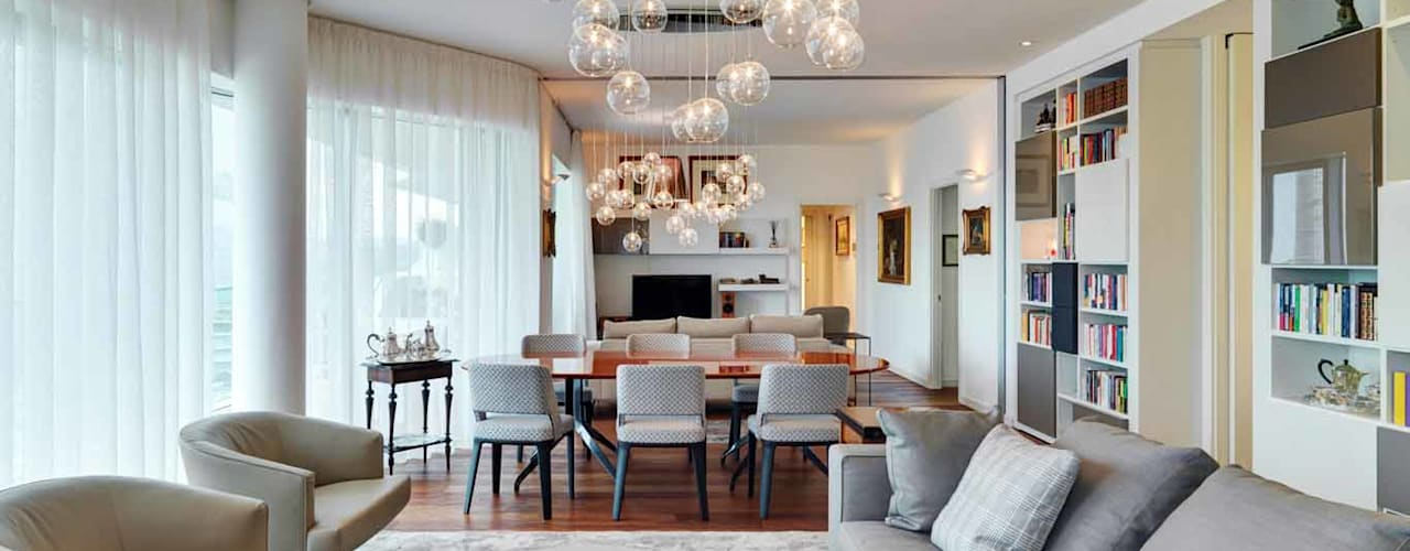 غرفة المعيشة تنفيذ Studio Marco Piva