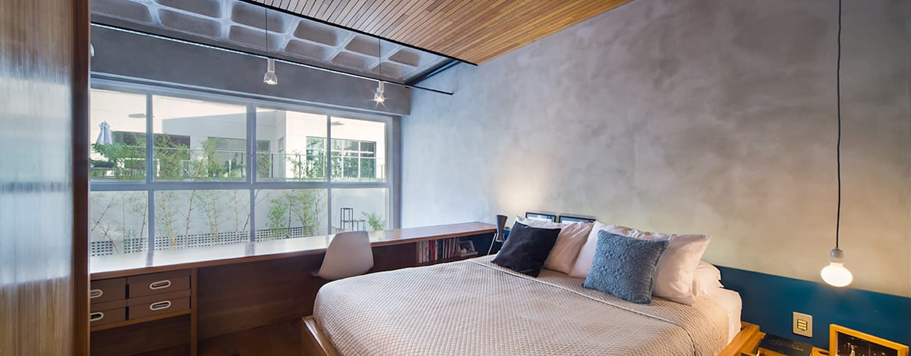 غرفة نوم تنفيذ Casa100 Arquitetura