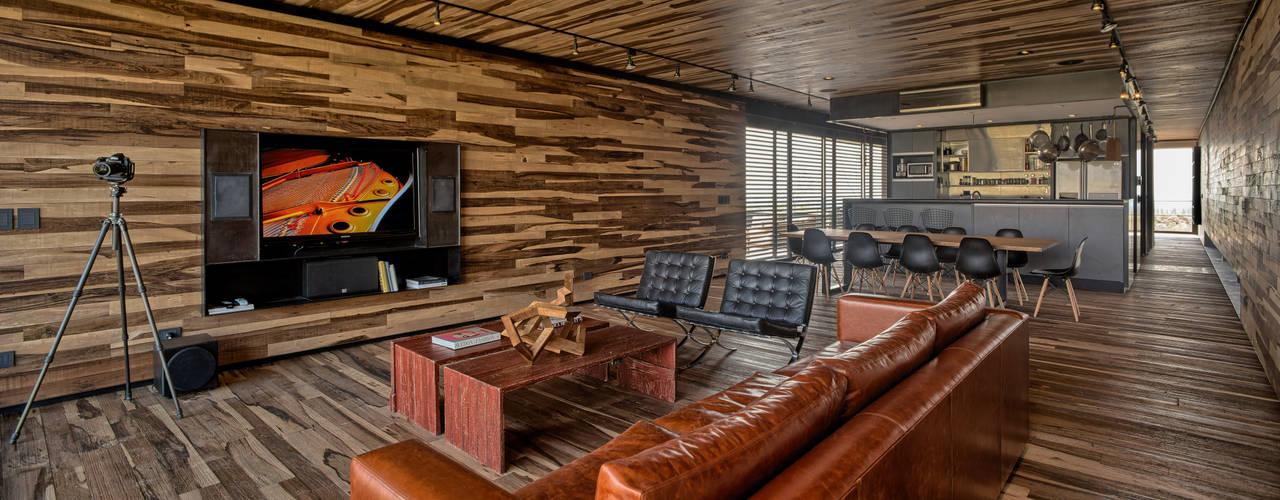 Salas / recibidores de estilo moderno por A4estudio