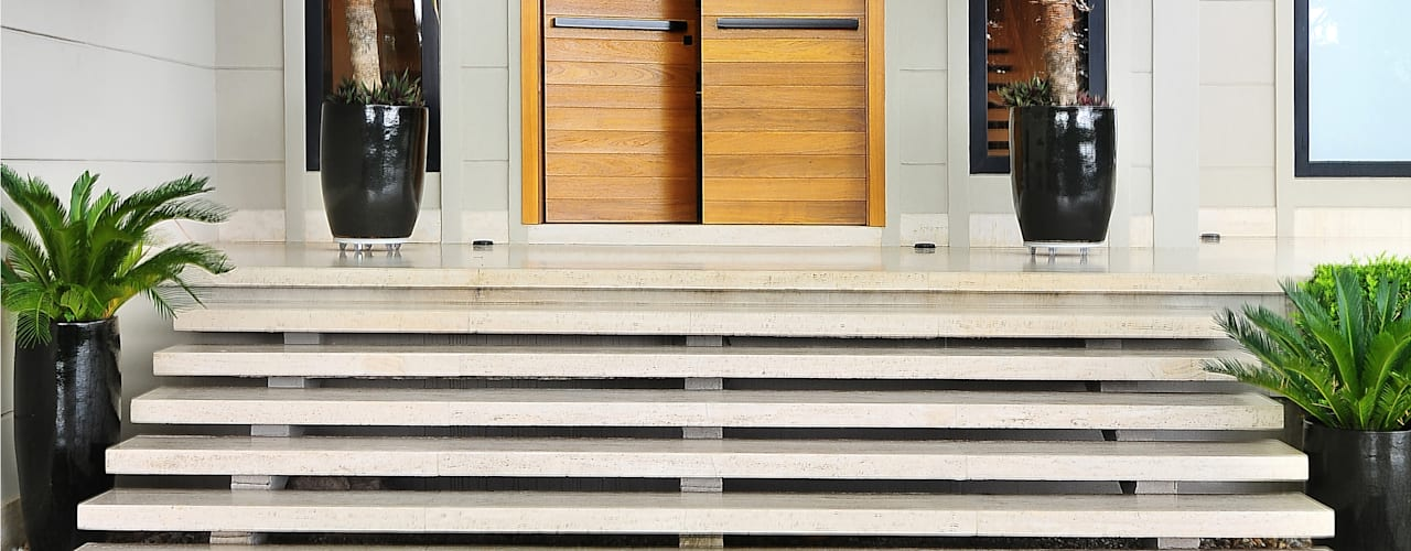 Casas de estilo  por BRENO SANTIAGO ARQUITETURA E INTERIORES