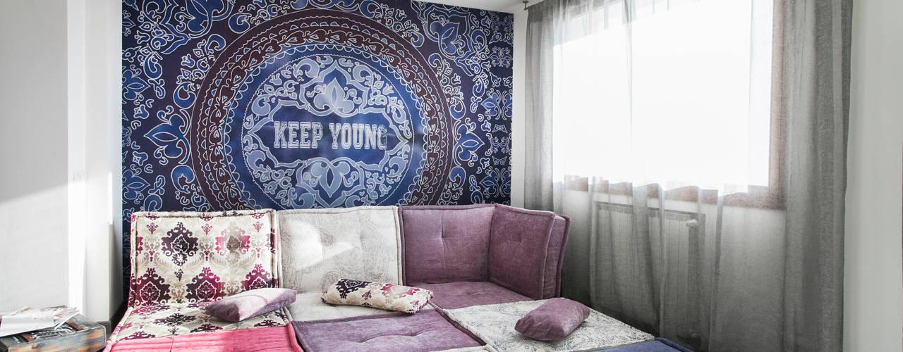 غرفة المعيشة تنفيذ Alessandro Corina Interior Designer