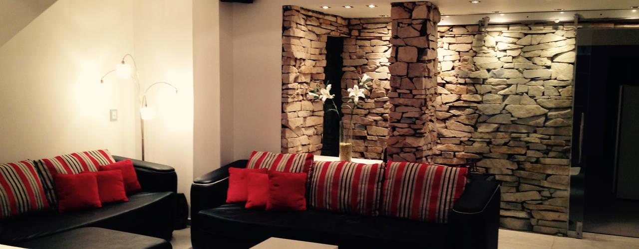 Modern Living Room by CubiK Modern