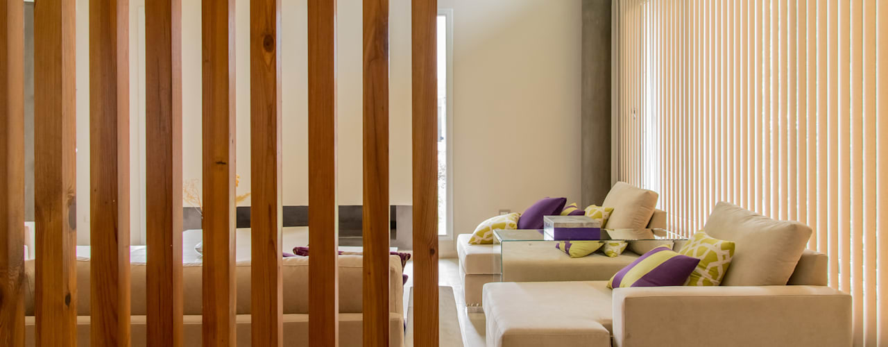 Salas / recibidores de estilo  por Saez Sanchez. Arquitectos