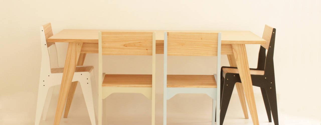 Silla Organic:  de estilo  por Debute Muebles