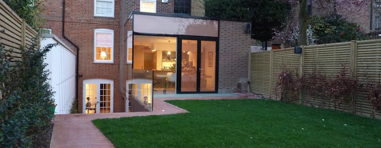 Pond Street: modern Houses by Belsize Architects