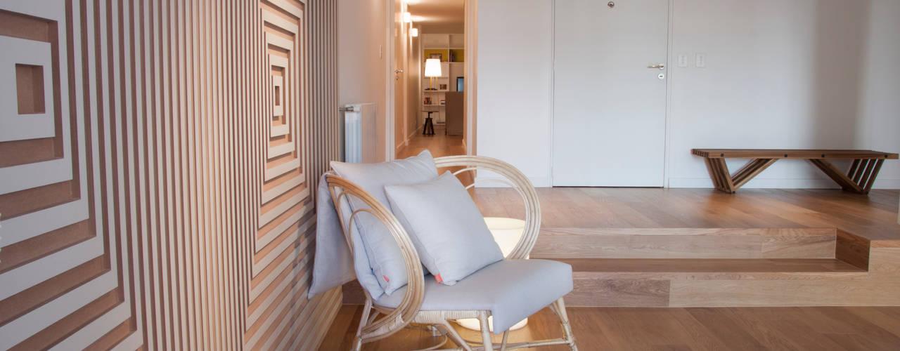 Piso en Palermo · Paula Herrero   Arquitectura: Livings de estilo  por Paula Herrero   Arquitectura
