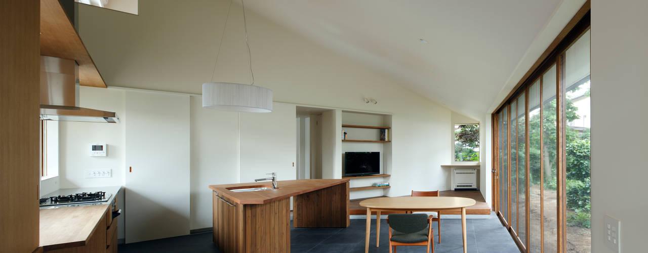 矢の口の家 モダンデザインの ダイニング の 向山建築設計事務所 モダン