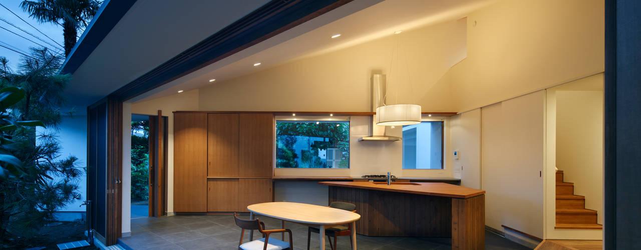 矢の口の家: 向山建築設計事務所が手掛けたリビングです。
