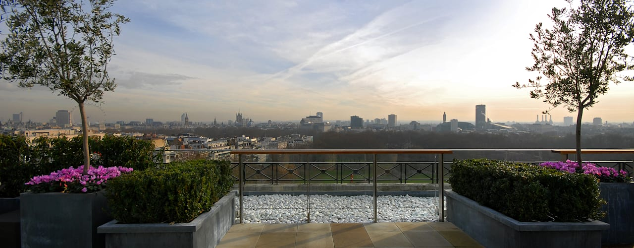 A West London Roof Garden Balcones y terrazas de estilo moderno de Bowles & Wyer Moderno