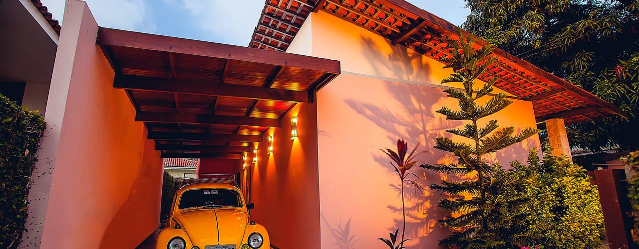 Casas de estilo  de Martins Lucena Arquitetos, Rústico