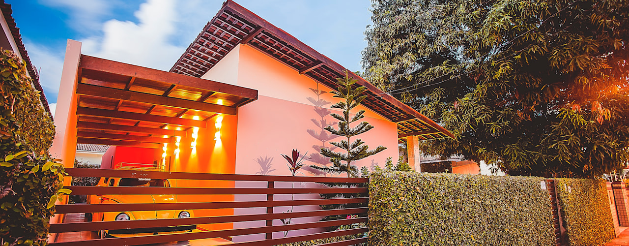 Casas de estilo  por Martins Lucena Arquitetos, Rústico