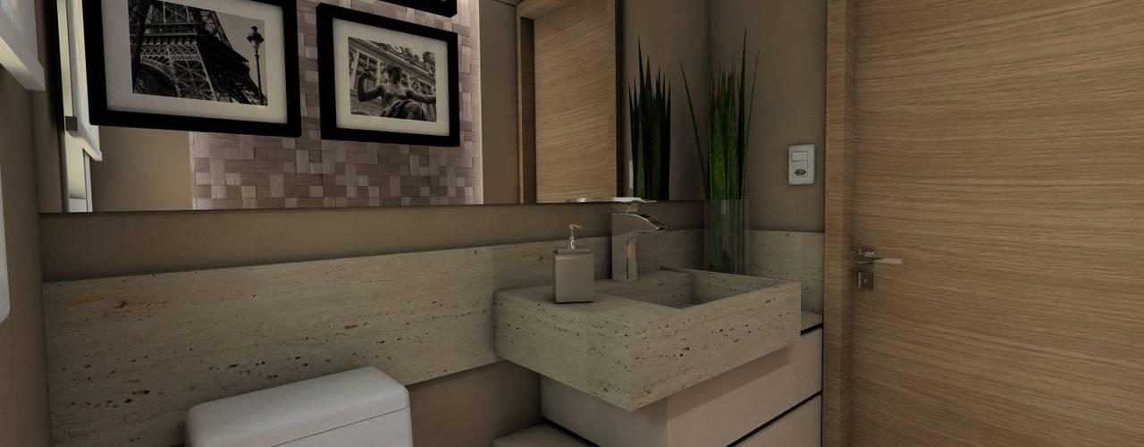 Salle de bain moderne par Ricardo Cavichioni Arquitetura Moderne