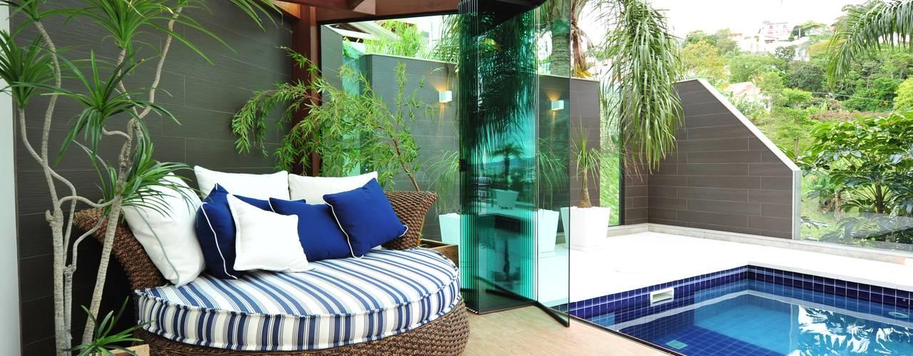 Terrazas de estilo  por ANNA MAYA ARQUITETURA E ARTE, Moderno