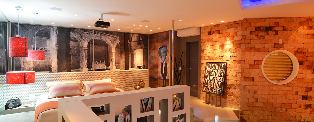 Dormitorios de estilo  por ANNA MAYA ARQUITETURA E ARTE