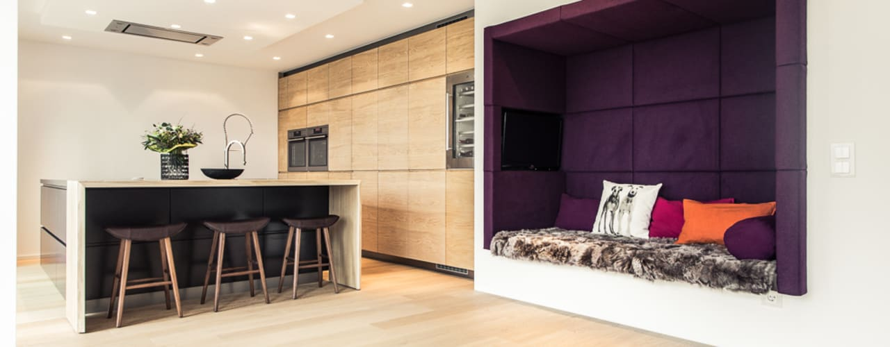 Sala da pranzo in stile  di Meissl Architects ZT GmbH