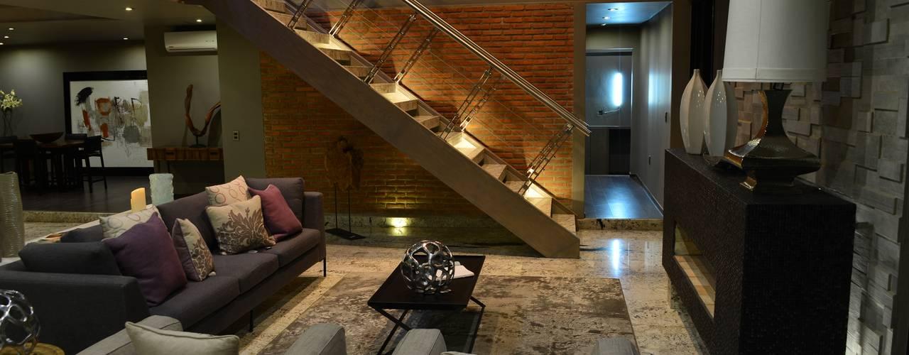 Casa Palenque: Salas de estilo minimalista por Con Contenedores S.A. de C.V.