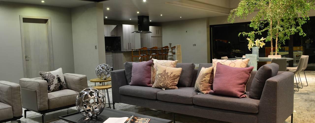 Salas de estilo minimalista de Con Contenedores S.A. de C.V. Minimalista