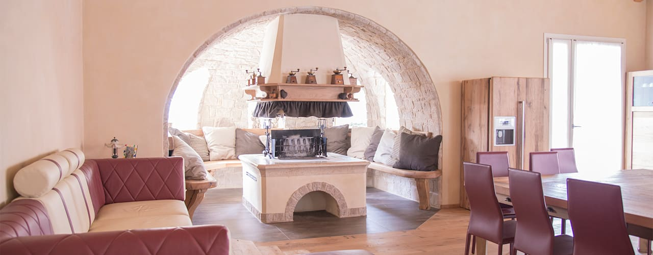 Salas de jantar rústicas por RI-NOVO Rústico