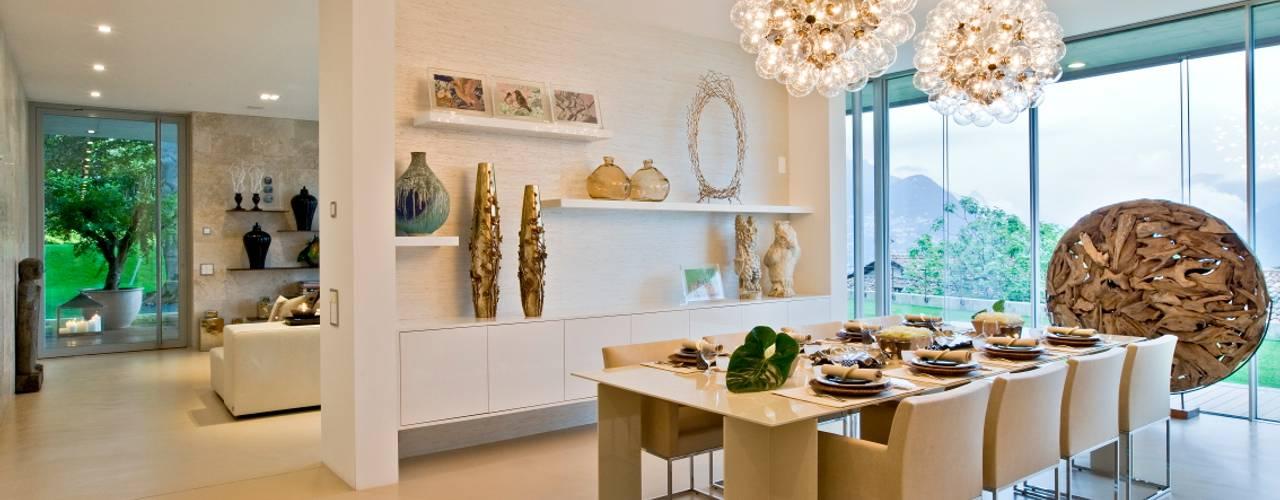 Oriental Chic Salas de jantar ecléticas por Viterbo Interior design Eclético