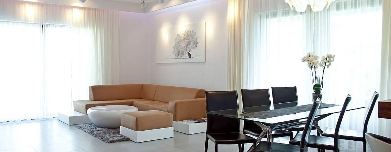 Salas de estar modernas por Biuro Projektów MTM Styl - domywstylu.pl