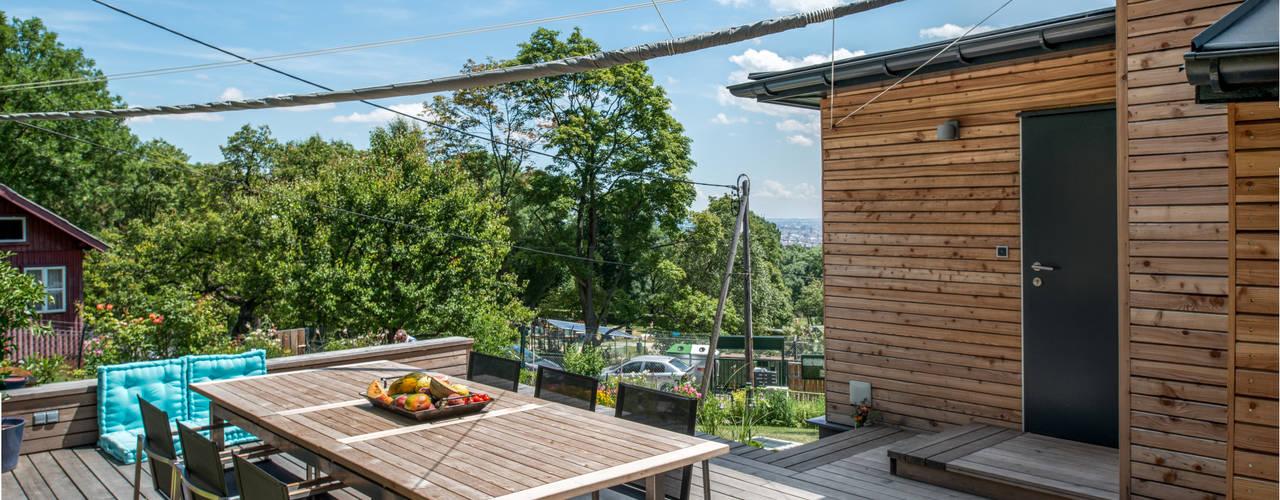 Projekty, nowoczesne Domy zaprojektowane przez UNA plant