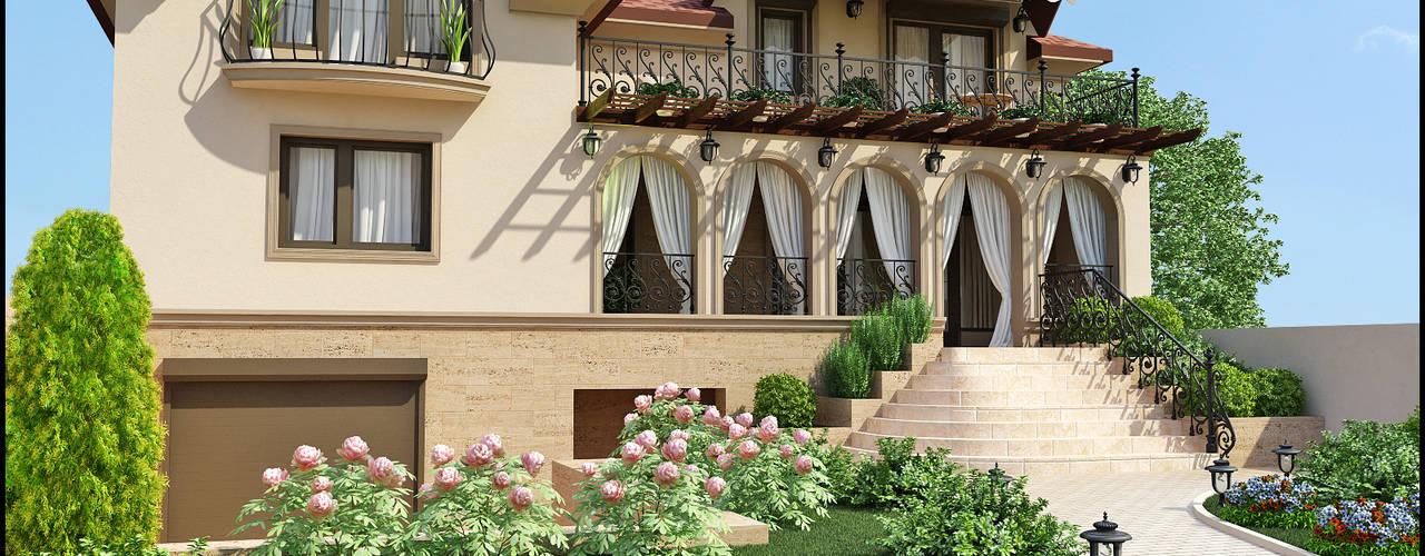 Реконструкция дома Терраса в средиземноморском стиле от Rash_studio Средиземноморский