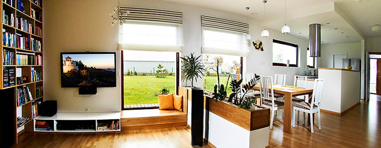 Salas modernas de Biuro Projektów MTM Styl - domywstylu.pl Moderno