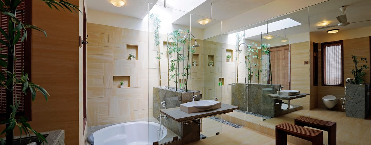 Asian style bathroom by JAYESH SHAH ARCHITECTS Asian
