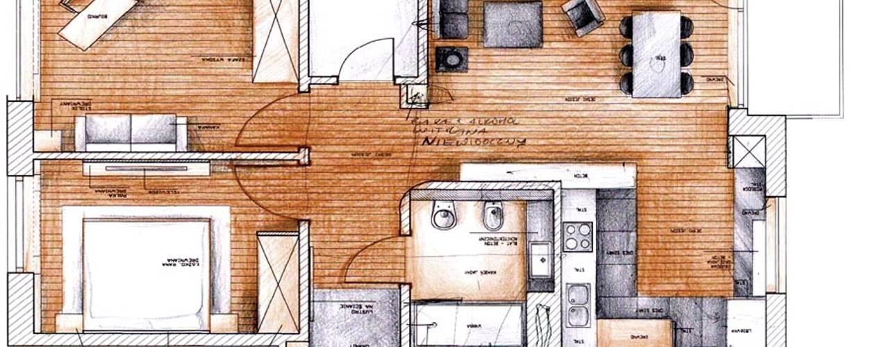 apartament na w warszawie na bluszczanskiej Nowoczesne domy od PIKSTUDIO Nowoczesny
