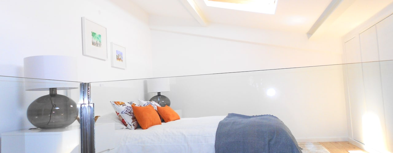 Kamar Tidur Modern Oleh Interiores com alma Modern