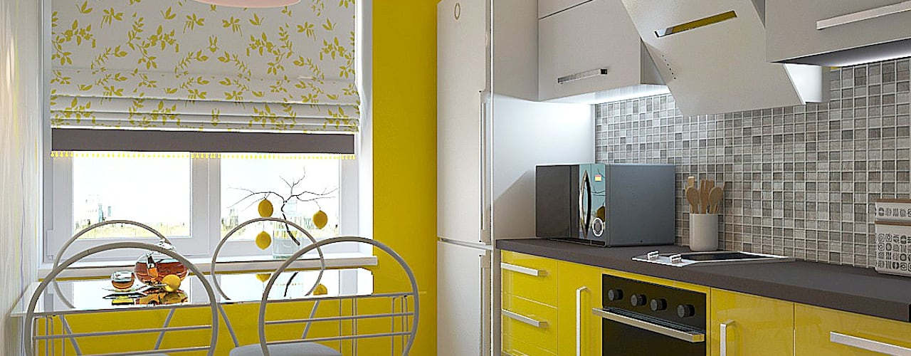 مطبخ تنفيذ Дизайн студия Жанны Ращупкиной