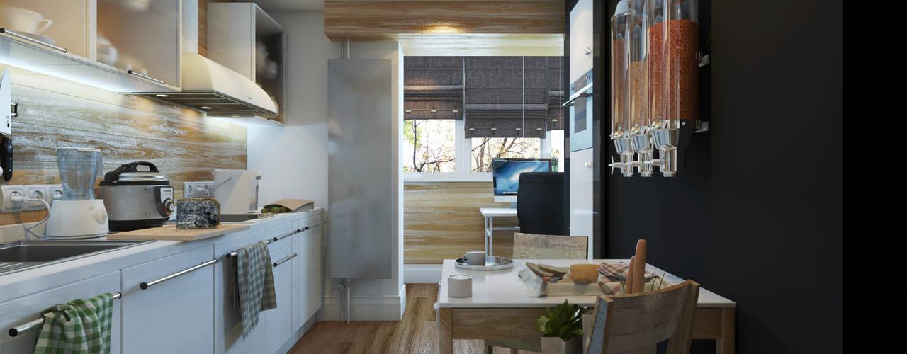 Брутальная однушка: Кухни в . Автор – D-SAV     ДИЗАЙН ИНТЕРЬЕРА И АРХИТЕКТУРА