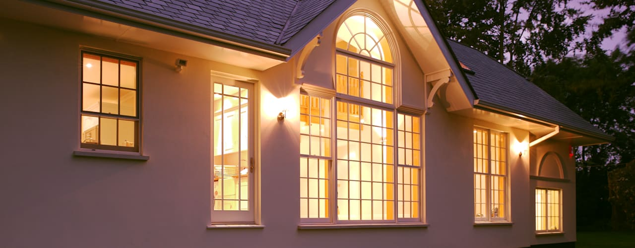 Neo Classical Design For New Build Family Home Classic windows & doors by Marvin Windows and Doors UK Classic