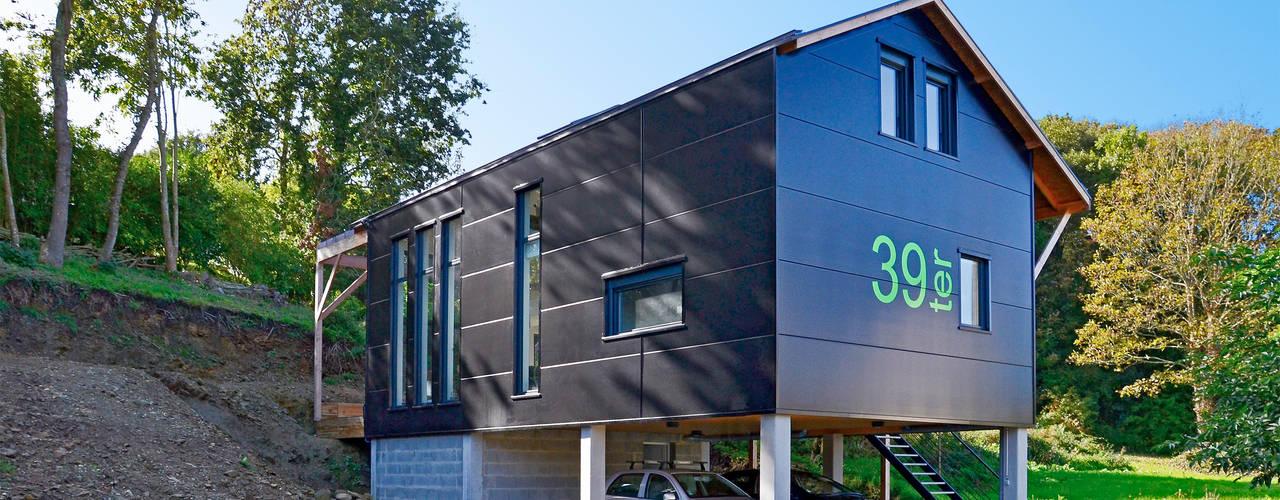 Casas de estilo escandinavo de Bertin Bichet Escandinavo