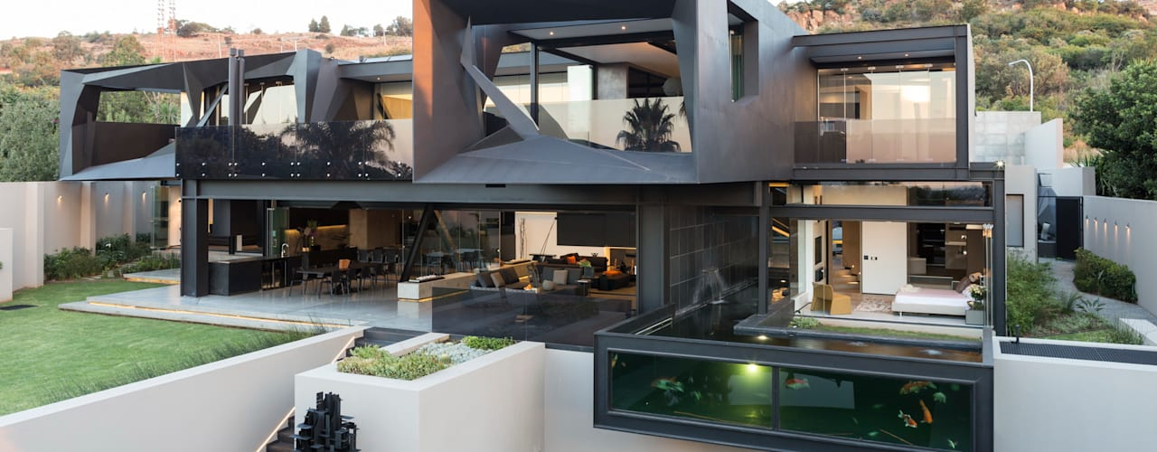 House in Kloof Road Modern houses by Nico Van Der Meulen Architects Modern