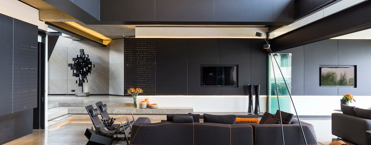 Living room by Nico Van Der Meulen Architects , Modern