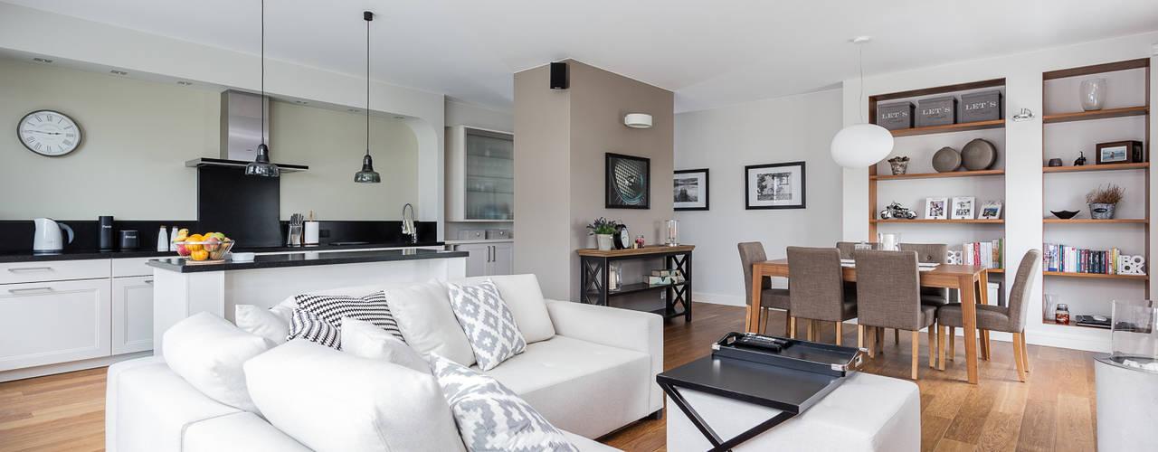 Mieszkanie z Miasteczka Wilanów: styl , w kategorii Salon zaprojektowany przez Michał Młynarczyk Fotograf Wnętrz,Nowoczesny