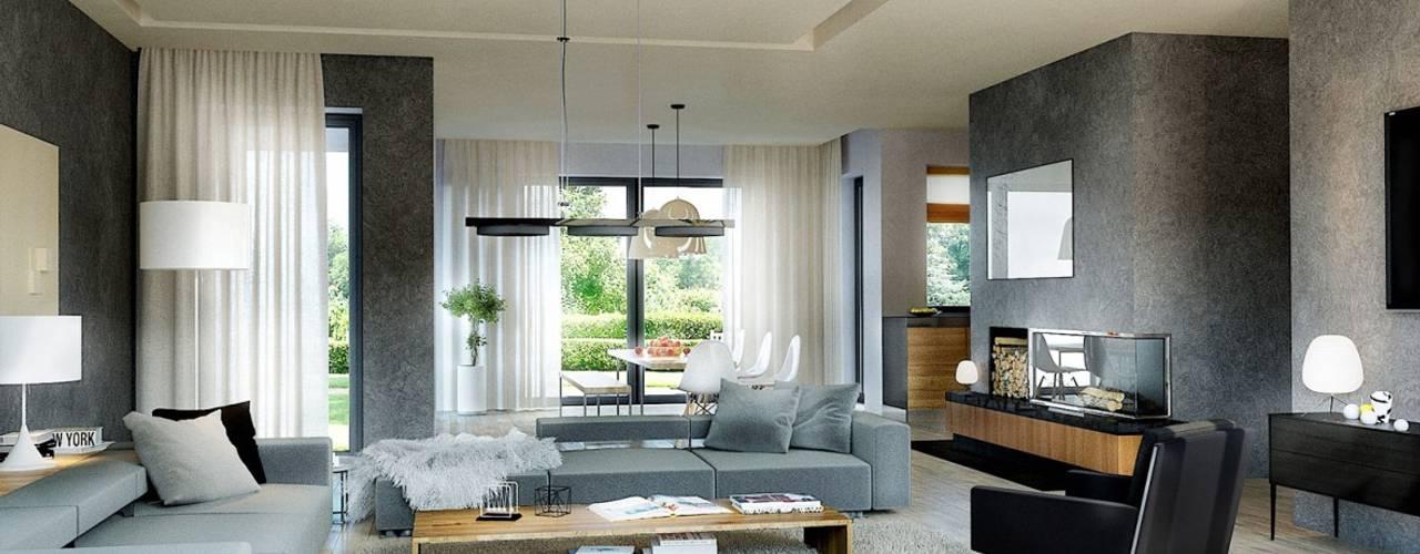 Livings modernos: Ideas, imágenes y decoración de Pracownia Projektowa ARCHIPELAG Moderno