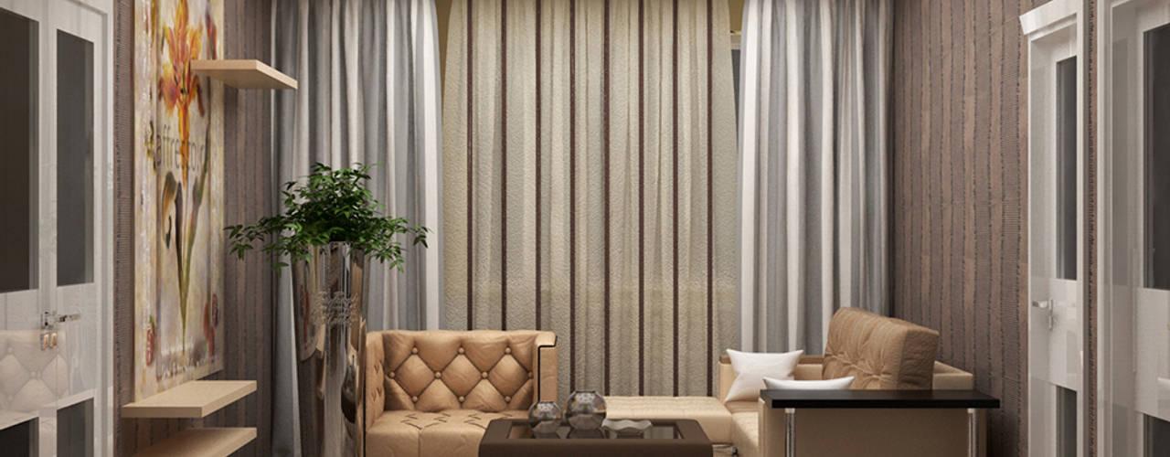 Salas / recibidores de estilo moderno por JULIA KABANOVA's DESIGN STUDIO