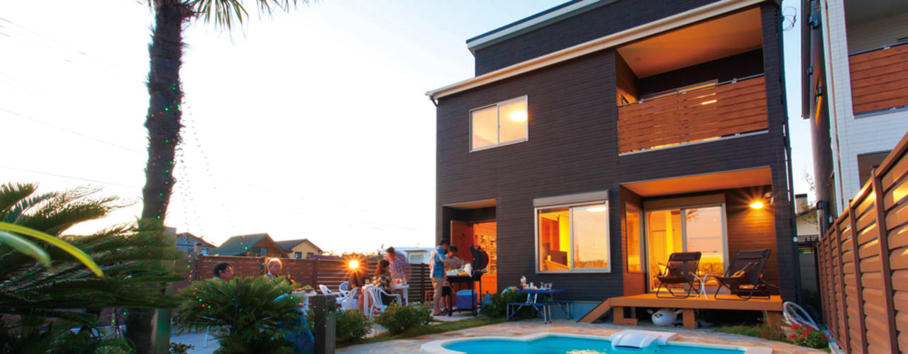 プールのある夢の家 オリジナルスタイルの プール の PROSPERDESIGN ARCHITECT OFFICE/プロスパーデザイン オリジナル