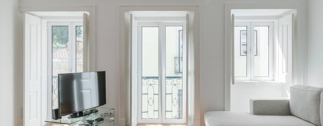 Apartamento São Caetano Salas de estar minimalistas por VSS ARQ Minimalista