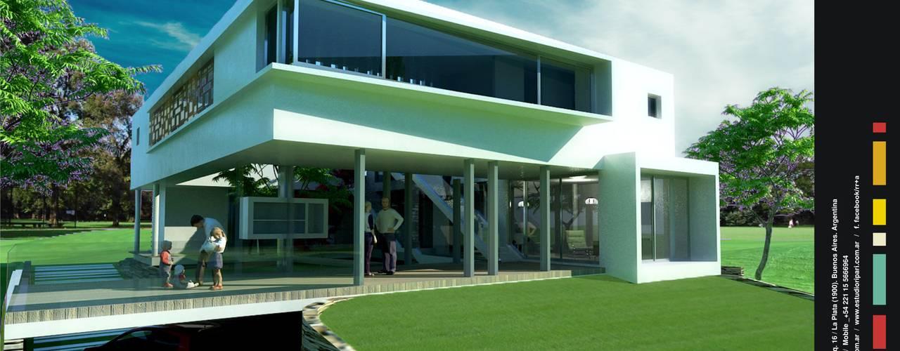 Diseño de Casa Kn68 en La Plata: Casas unifamiliares de estilo  por Rr+a  bureau de arquitectos - La Plata,Moderno